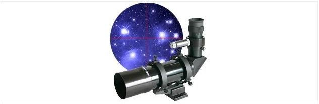 ANTARES 7X50 RIGHT ANGLE FINDERSCOPE - WHITE W/ILLUMINATED RED DOT