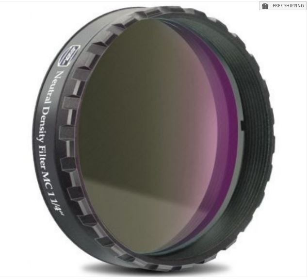 """BAADER 1.8 NEUTRAL DENSITY FILTER - 1.25"""" ROUND MOUNTED"""