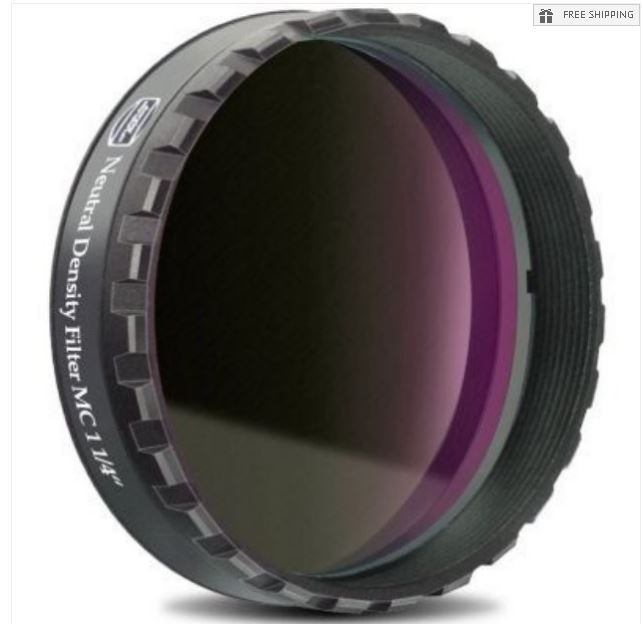 """BAADER 3.0 NEUTRAL DENSITY FILTER - 1.25"""" ROUND MOUNTED"""