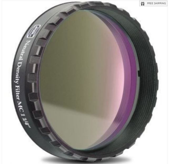 """BAADER 0.6 NEUTRAL DENSITY FILTER - 1.25"""" ROUND MOUNTED"""
