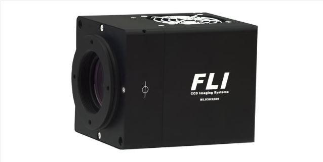 FLI MICROLINE CCD CAMERA WITH FRONT ILLUMINATED E2V 230-42 GRADE 1 SENSOR AND 63.5MM SHUTTER