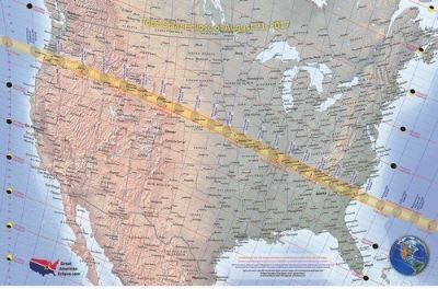 GREAT AMERICAN ECLIPSE- 2017 ECLIPSE MAP