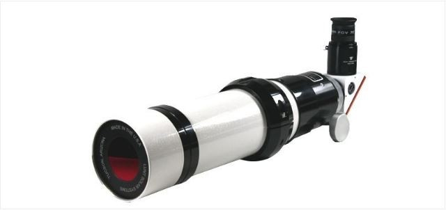 """LUNT SOLAR 60MM DOUBLE STACK H-ALPHA SOLAR TELESCOPE - B600 - 2"""" FEATHER TOUCH FOCUSER"""