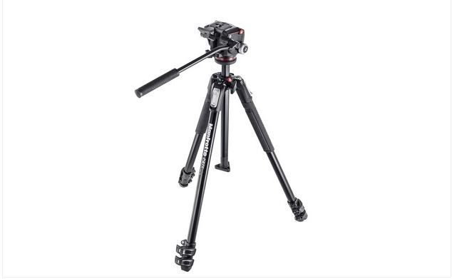 MANFROTTO 190X 3-SECTION TRIPOD WITH MHXPRO-2W FLUID HEAD
