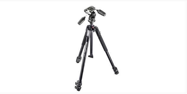MANFROTTO 190X 3-SECTION TRIPOD WITH 804RC2 THREE-WAY HEAD