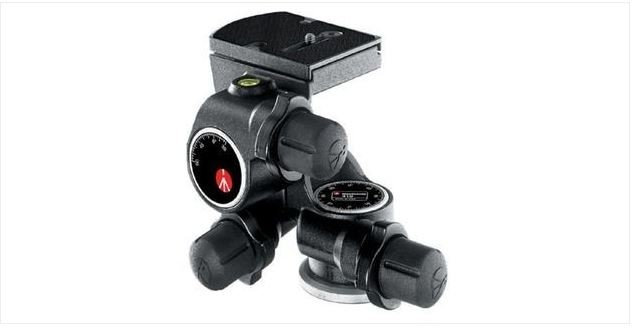 MANFROTTO 410 GEARED HEAD W/ 410PL QUICK RELEASE PLATE