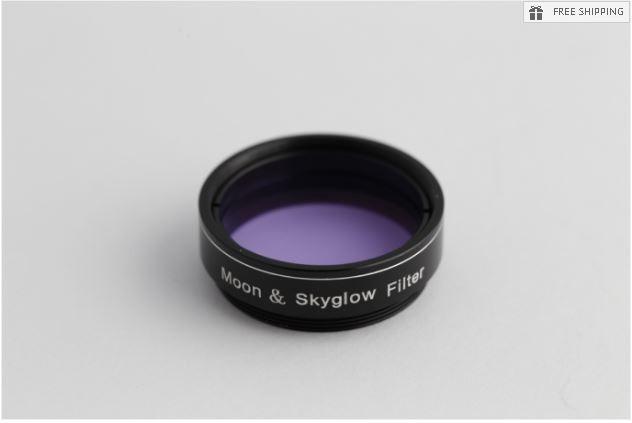 "FUTURE OPTICS MOON & SKY-GLOW FILTER - 1.25"""