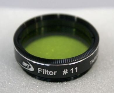"TPO #11 YELLOW-GREEN COLOR FILTER & CASE - 1.25"" ROUND MOUNTED"