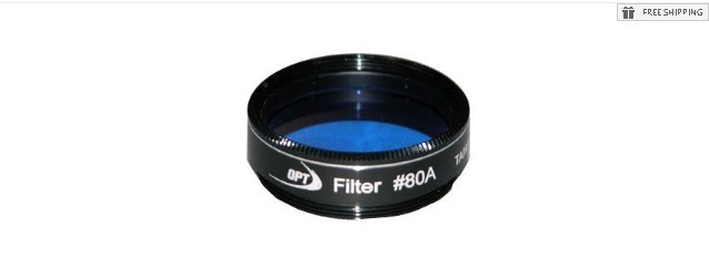"TPO #80A MEDIUM BLUE FILTER & CASE - 1.25"" ROUND MOUNTED"