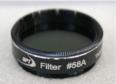 "TPO #58A GREEN COLOR FILTER & CASE - 1.25"""