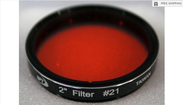 """TPO #21 ORANGE FILTER & CASE - 2"""""""