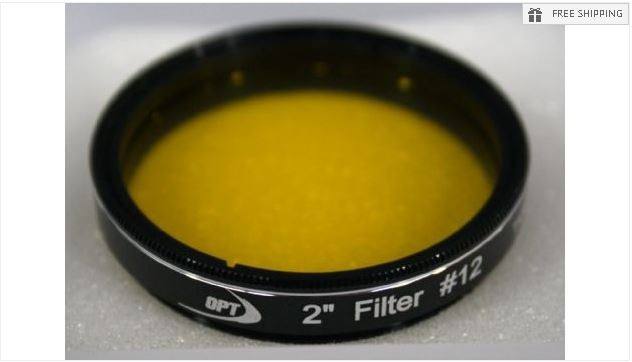 TPO #12 YELLOW COLOR FILTER & CASE - 2""