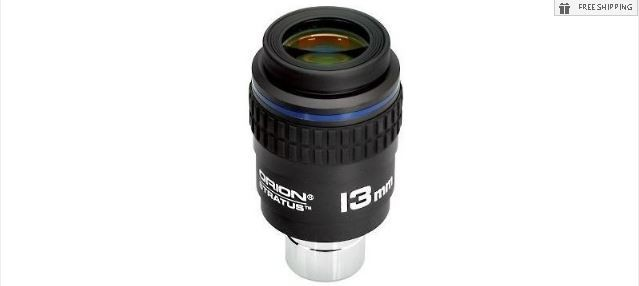 "ORION 13MM STRATUS WIDE-FIELD EYEPIECE - 1.25"" / 2"""