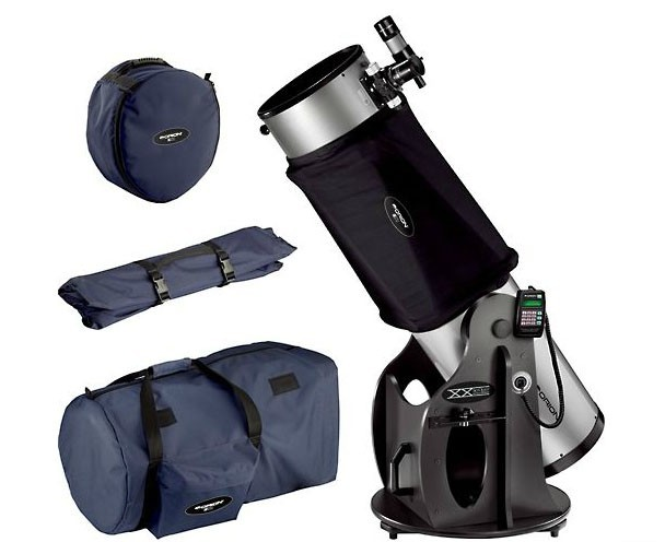 ORION SKYQUEST XX12I DOBSONIAN TELESCOPE, SHROUD AND CASE