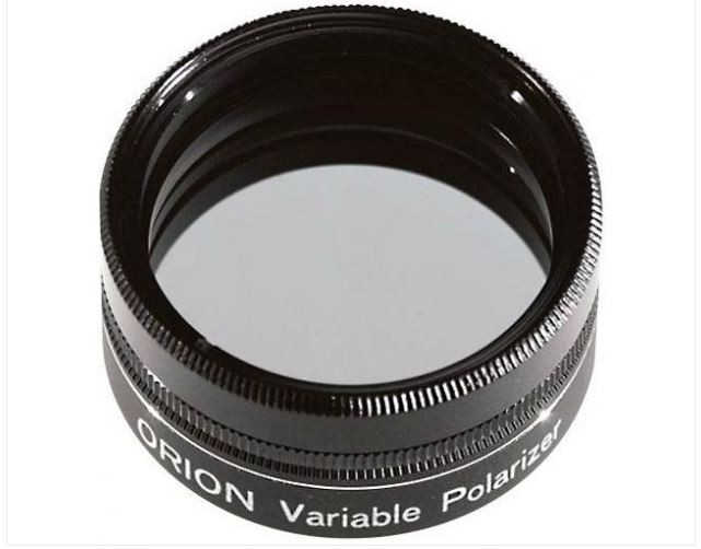 "ORION VARIABLE POLARIZING FILTER - 1.25"" ROUND MOUNTED"