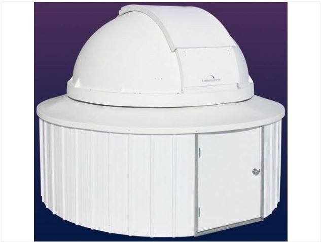 """POLYDOME EXPLORA-DOME OBSERVATORY - 8' DOME ON 10' 6"""" ROUND BUILDING"""