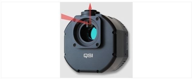 QSI 6120WS 12 MP COOLED CCD CAMERA W/ MECHANICAL SHUTTER & 5-POSITION CFW