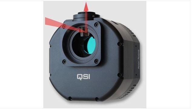 QSI 628WSG MONO CCD CAMERA - MECHANICAL SHUTTER, 5-POSITION FILTER WHEEL & INTEGRATED GUIDER PORT