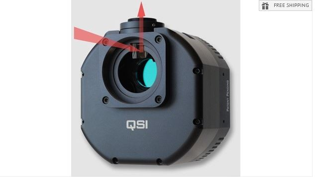 QSI 683WSG MONO CCD CAMERA W/ MECHANICAL SHUTTER, 5-POSITION CFW, AND IGP WITH STI THREAD