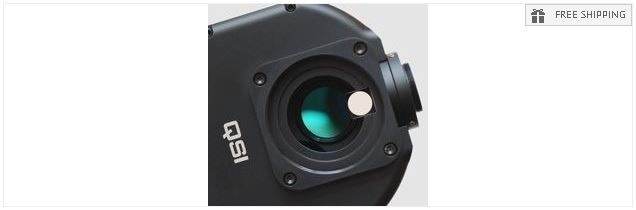 QSI 683CSG COLOR CCD CAMERA - MECHANICAL SHUTTER & INTEGRATED GUIDE PORT