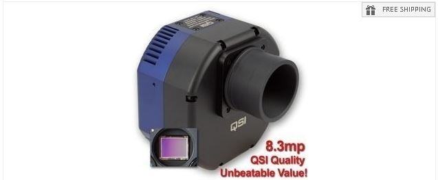 QSI 683CWSG COLOR CCD CAMERA - MECHANICAL SHUTTER, 5-POSITION CFW & INTEGRATED GUIDE PORT