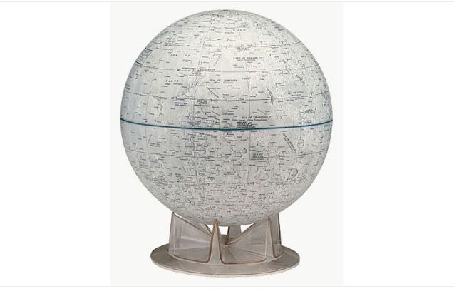 "REPLOGLE 12"" NASA MOON GLOBE"