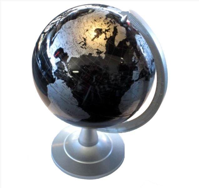"REPLOGLE 6"" MINI DELEGATE WORLD GLOBE (BLACK)"
