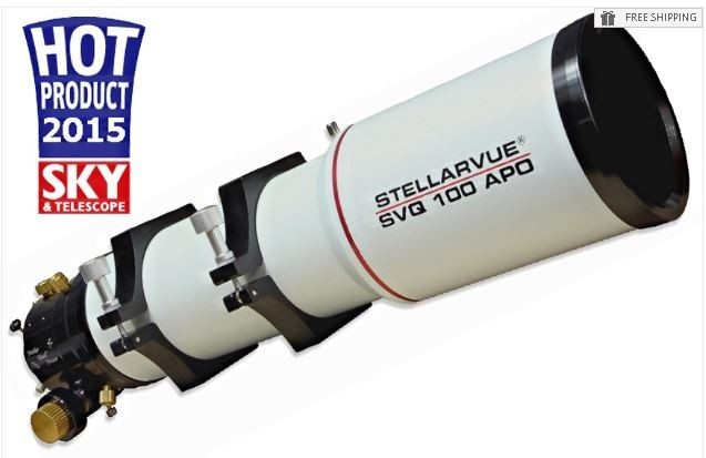 STELLARVUE 100MM F/5 8 QUAD ASTROGRAPH TELESCOPE WITH 3