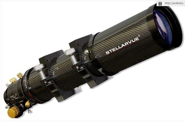 """STELLARVUE 102MM APO TRIPLET REFRACTOR - CARBON FIBER TUBE & 2.5"""" SV FOCUSER"""