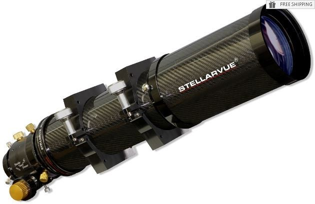 "STELLARVUE 102MM APO TRIPLET REFRACTOR - CARBON FIBER TUBE & 3"" FEATHER TOUCH FOCUSER"