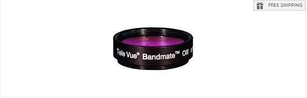 """TELE VUE BANDMATE OIII FILTER - 1.25"""" ROUND MOUNTED"""