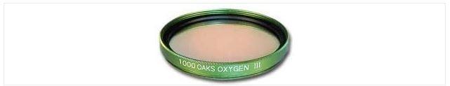 """1000 OAKS OXYGEN III (OIII) FILTER - 1.25"""" ROUND MOUNTED"""