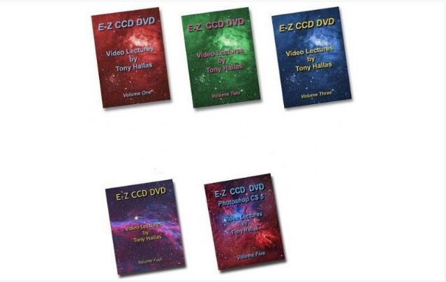 TONY HALLAS COMPLETE GUIDE TO CCD ASTROPHOTOGRAPHY - 5 DVD SET