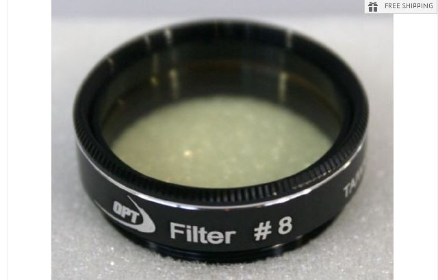 TPO #8 LIGHT YELLOW COLOR FILTER & CASE - 1.25""