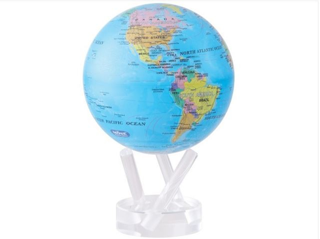 "TURTLETECH MOVA GLOBE 4.5"" BLUE OCEAN W/ POLITICAL MAP"