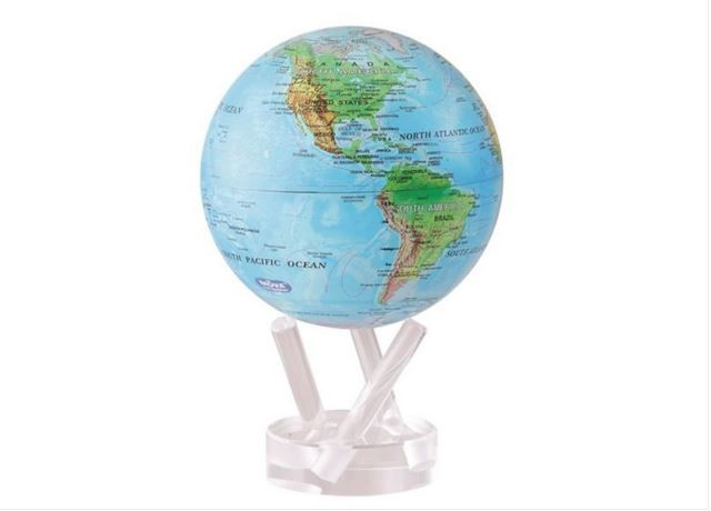 TURTLETECH MOVA EARTH GLOBE BLUE WITH RELIEF MAP 6