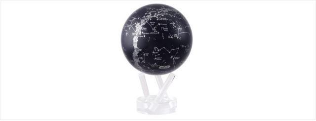 "TURTLETECH MOVA GLOBE SILVER CONSTELLATIONS ON NAVY BLUE - 4.5"""