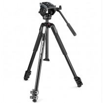 MANFROTTO 190X3 TRIPOD WITH MVH500AH FLUID VIDEO HEAD