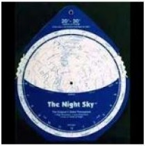 NIGHT SKY PLANISPHERE - 20-30 NORTH