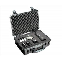 PELICAN 1500S HARD CASE WITH FOAM - SILVER