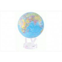 TURTLETECH MOVA EARTH GLOBE BLUE WITH POLITCAL MAP 8.5""