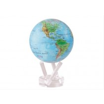 TURTLETECH MOVA EARTH GLOBE BLUE WITH RELIEF MAP 6""